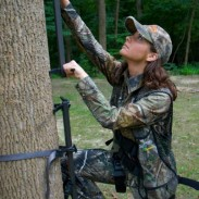 While you are climbing any elevated hunting stand you should maintain three points of contact at all times.