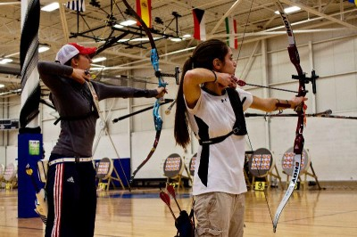 From left: Jennifer Nichols and Ariel Gibilaro lead the Senior and Junior Women's Recurve categories