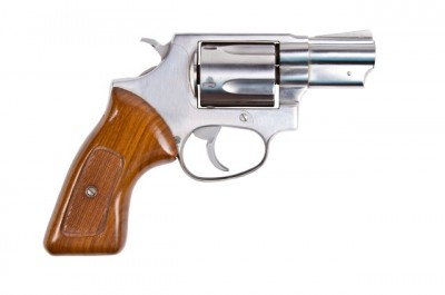 A snub nose revolver, similar to the one Chevilott found (though the one he found was a hammerless Smith & Wesson)