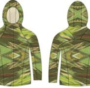 Depsoc 360 Hoodie with hidden velcro in the same camo print