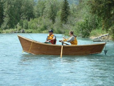 Wooden skiff on the Kenai River