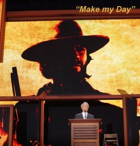 "Clint Eastwood ""Makes the Day"" for many at the 2012 GOP Convention in Tampa, FL"