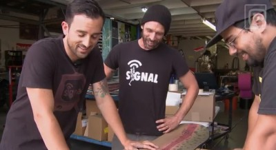 Signal Snowboards engineers figure out the logistics of the Fly Fishing Snowboard