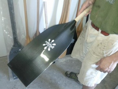 A paddle blade similar to the ones used by the 2012 Olympic C-2 team.