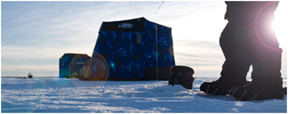 Uncompromising otter ice fishing shelters outdoorhub for Otter ice fishing