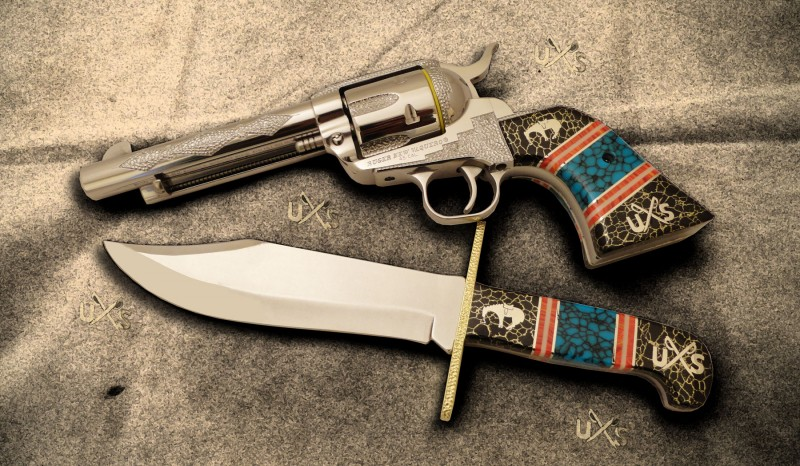 Custer's Last Stand Gun and Knife Set | Single-Actions