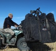 Decoy bags on ATV transport system