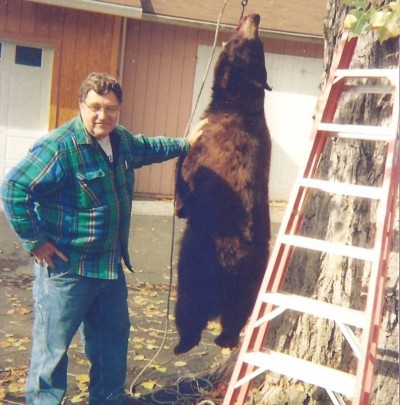 Author with typical California black bear. Photo by Don Moyer