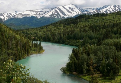 The Kenai River in the Kenai Peninsula, where the attack took place.