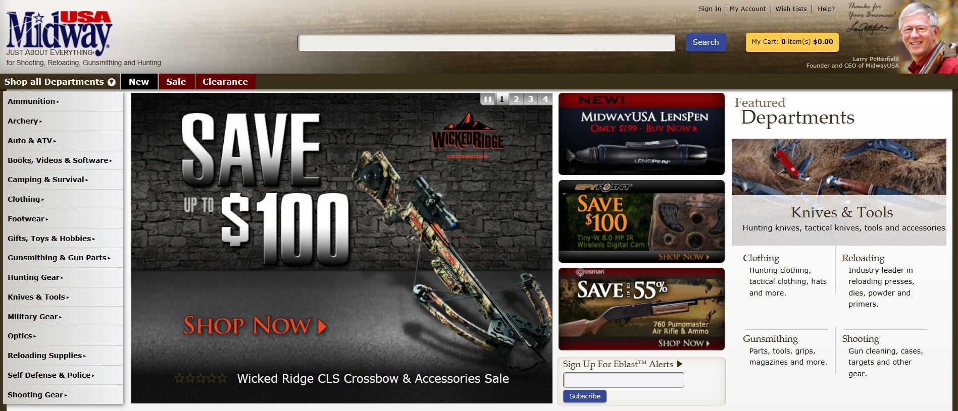 Explore bow fishing, hunting and target shooting with MidwayUSA's assortment of recurve and compound bows. MidwayUSA also carries gifts for your favorite hunter along with gift certificates if you're not sure what to buy. Be prepared for great deals with MidwayUSA coupon codes.