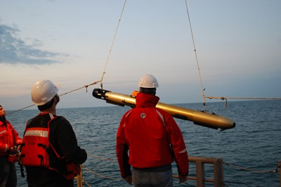 Scientists used an AUV to map the seafloor at the Redbird Reef site off the coast of the Indian River Inlet.