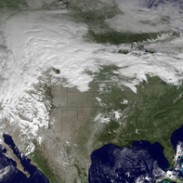 Winter storm developing. Image courtesy NOAA.