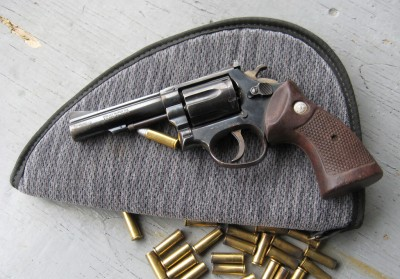 A Taurus revolver, an example of the company's ubiquitous handgun line.