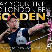 The U.S. archery and bowhunting industry is keeping a close eye on archery's growth opportunity and investing millions in archery education and places to shoot. Here's an ad used by U.S. archery retailers and manufacturers to send well wishes to the U.S. Olympic Archery Team in London.
