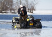 The Wilcraft hybrid ATV is billed as the perfect vehicle for the ice fishing enthusiast. But how does it actually perform on water and on ice?