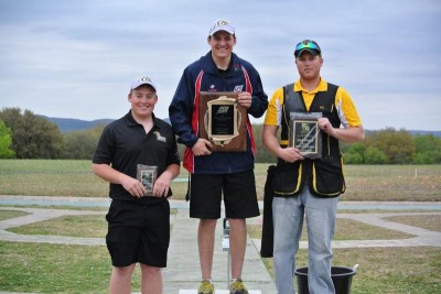Men's Skeet Champion from the International Shoot-Out was Lindenwood's Ryan Smithhart, who defeated teammate and National Junior Team member Dustin Perry to earn his USA Shooting jacket. Finishing second was Damian Giles of Fort Hays State University. Photos courtesy of Lindenwood University.