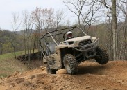 The Teryx has plenty of power and ground clearance.