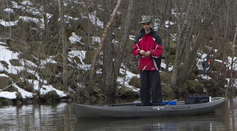 NuCanoe's Frontier 12 hybrid kayak.