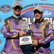 Parker and Roberts' two day total was 46.76 pounds, a new BoatUS Collegiate Bass Championship record.