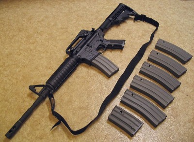 A Bushmaster M4A3 carbine. Firearms like the M4A3 were in focus following the Newtown shooting.