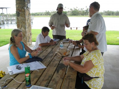 Participants learn fishing skills at a Women's Fishing Clinic in Crystal River.