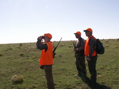 A young hunter scouting for pronghorn in Colorado with his father and Huntmaster. Pronghorns are one of many reasons hunters frequent the state.
