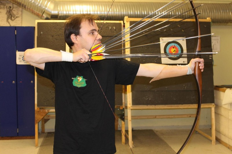Lars Andersen of Denmark has resurrected stunning archery skills dating back centuries. When shooting rapid-fire, he holds up to ten arrows in either his left or right hand.