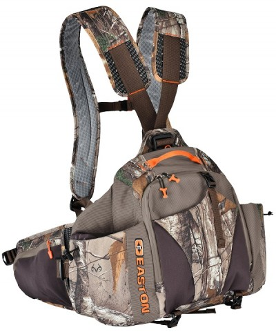 The Hinsch is a low center-of-gravity pack with an adjustable shoulder harness and double-pull alloy/composite frame system.