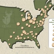 Researchers complied this map using 74 data points gathered from state wildlife agencies.