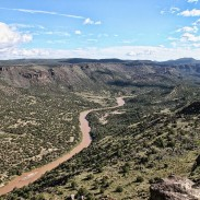 The Rio Grande runs through Colorado, Texas, and New Mexico, forming a natural boundary  between the United States and Mexico.