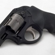 Pictured is the Ruger LCR chambered in .38 Special, a compact revolver designed for concealed carry.