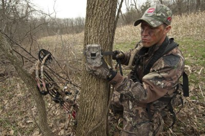 To help him hunt small properties, Mike Monteleone has his trail cameras running 365 days a year.