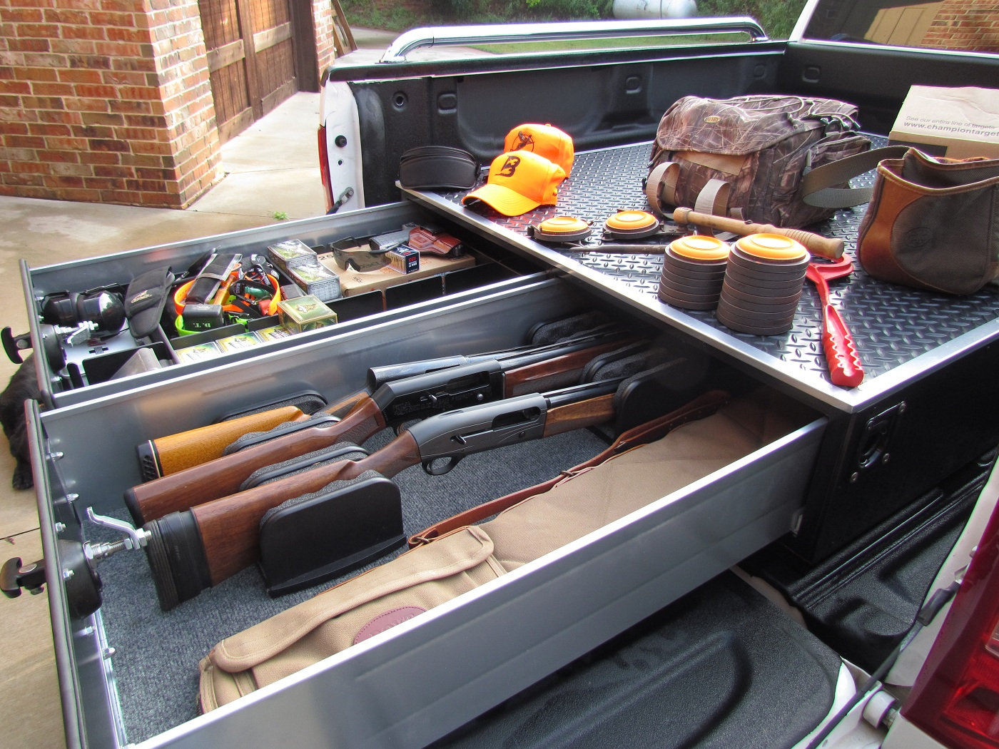 Wooden Truck Bed Storage Drawers