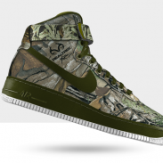 A customized Air Force 1 in Realtree XTRA camo.