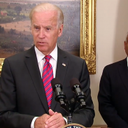 Vice President Joe Biden with the new head of the ATF, Todd Jones (right).