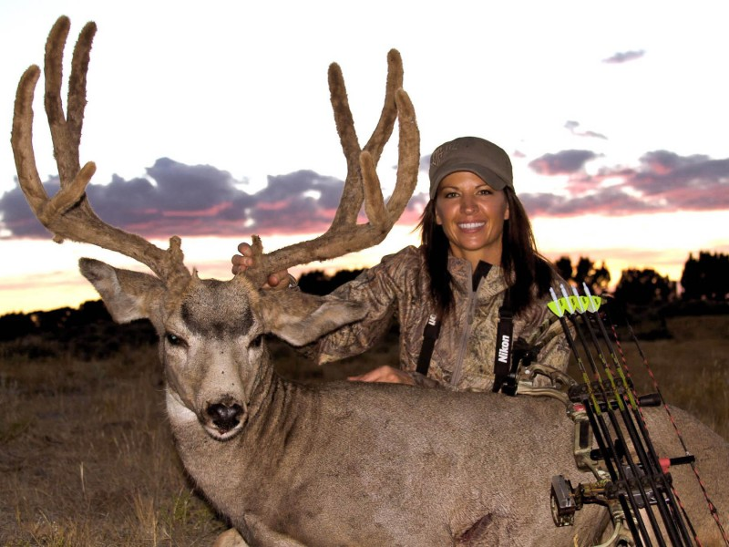 Julie Kreuter's Utah velvet-antlered muley.
