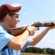 Skeet shooting champion Josh Poole prepares for another shot.