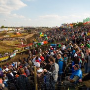 Big crowds turned out for qualifying races.