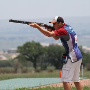 "The junior team of Phillip Jungman (Caldwell, Texas), Nick Boerboon (Prior Lake, Minn.) and Luis ""Taz"" Gloria (Tucson, Ariz.) finished third at the 2013 ISSF Shotgun World Championship."