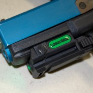 I used this Simunitions Glock conversion with a prototype Native Green UNI-MAX in the Gunsite Playhouse - in broad daylight.