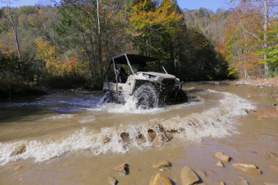 The Teryx's vital components are mounted up high, allowing for water crossings without swamping out the motor and leaving you stranded.
