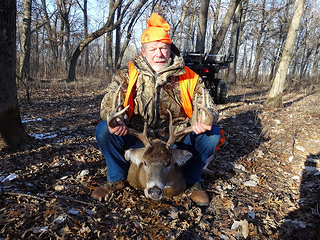Gene Bennett, proprietor of Bennett's Meadowood Country Club, in Madison, Wisconsin, scored this dandy 10-point buck on opening day of Wisconsin's 2013 gun deer season.  photo courtesy of Gene Bennett.