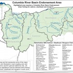 This map shows the reach of the Columbia River Basin. Beginning Jan. 1, 2014 anglers fishing for salmon, steelhead or sturgeon within this area must have a Columbia River Basin endorsement.