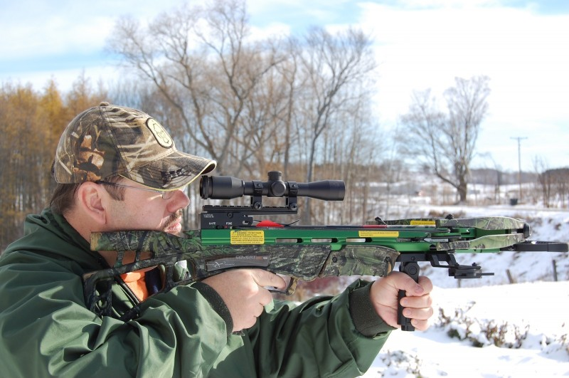 The SLS is a very compact bow and great for hunting from a ground blind.