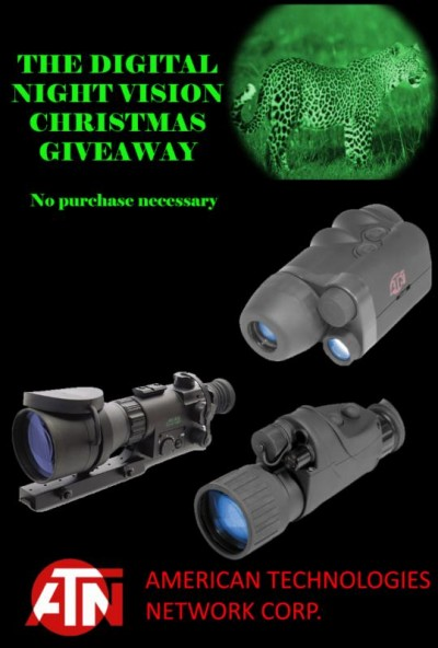 "The Digital Night Vision Christmas Giveaway"" begins Friday November 15th, 2013"