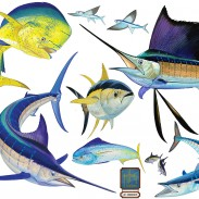 Guy Harvey Art now available in reusable vinyl prints.