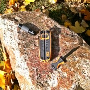 The Tempo flashlight, multitool and firestarter included with the Bear Grylls Survival Tools Pack.