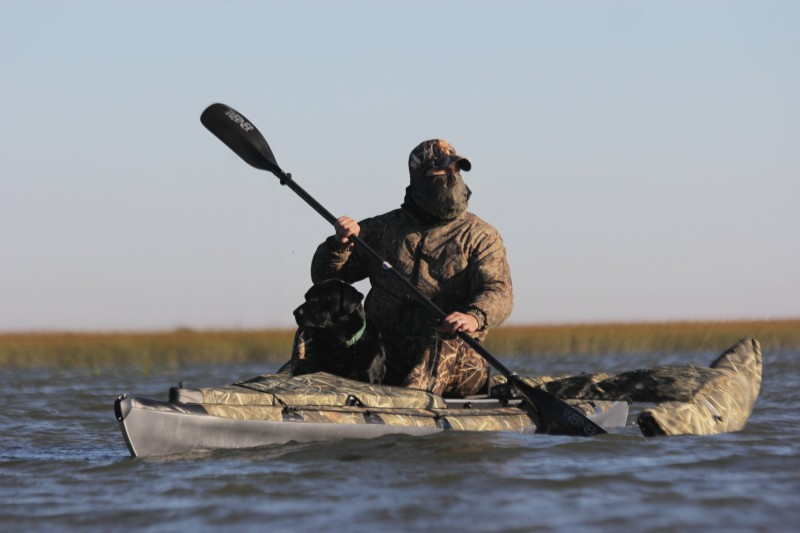 Realtree camo folding kayak.