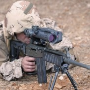 The Meprolight MESLAS, a programmable, multi-function, fire-controlled sniper's riflescope.