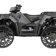 The new Sportsman WV850 H.O. All-Terrain Vehicle features terrain armor non-pneumatic tires.